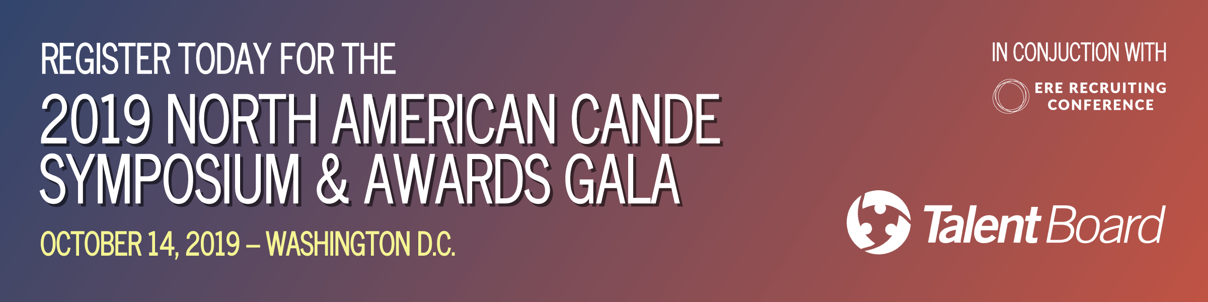 TalentBoard 2019 North American Cande Symposium & Awards Gala graphic