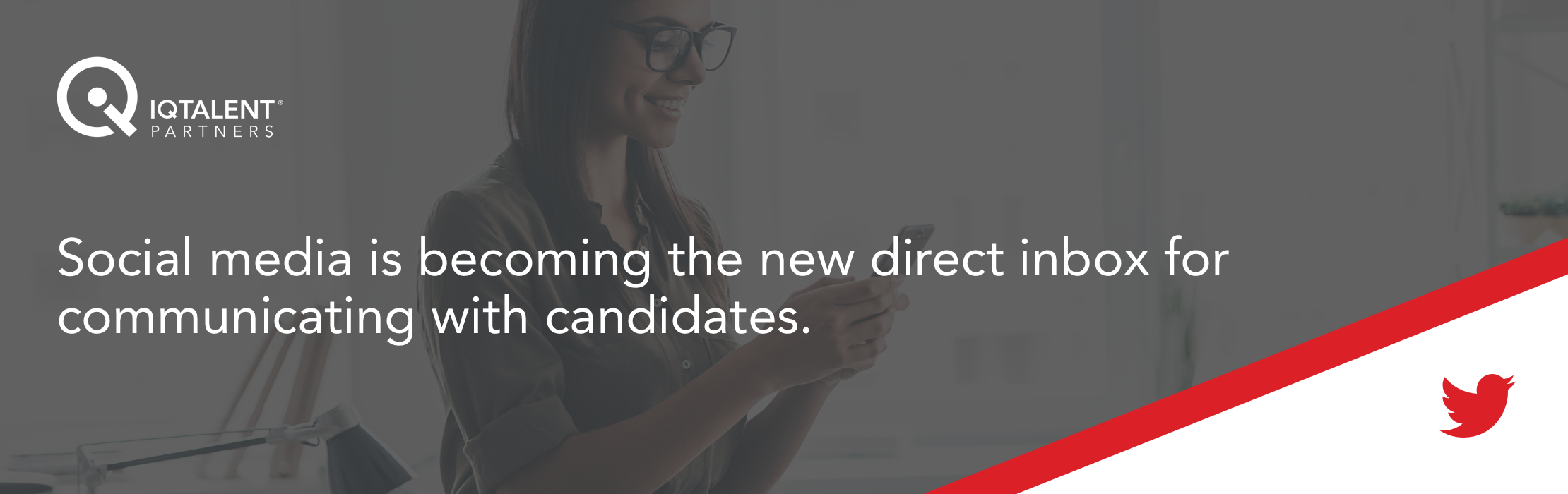 Social media is becoming the new direct inbox for communicating with candidates.