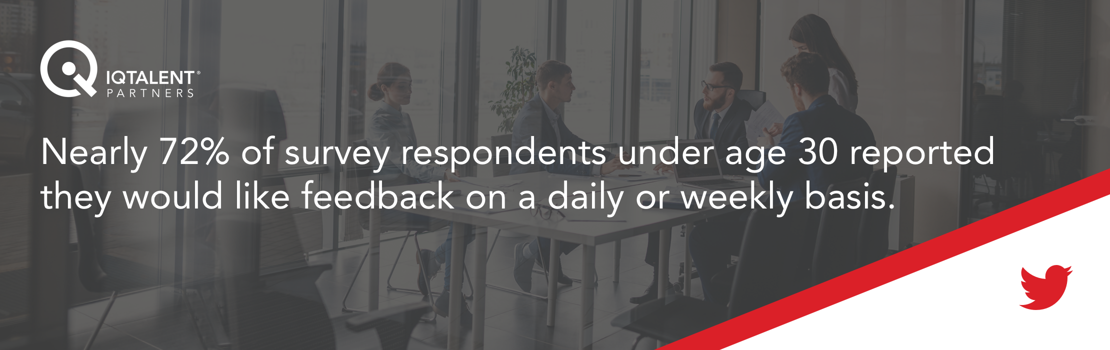 Nearly 72% of survey respondents under age 30 reported they would like feedback on a daily or weekly basis.